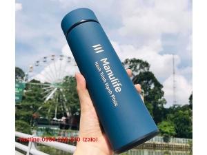 Bình Giữ Nhiệt Manulife Xanh Duong